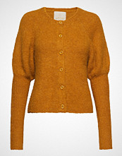 by Ti Mo Hairy Knit Puffed Cardigan Strikkegenser Cardigan Oransje BY TI MO