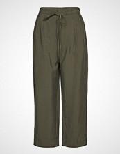 Mango Soft Straight Trousers Vide Bukser Grønn MANGO