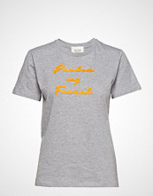Second Female Pardon Tee T-shirts & Tops Short-sleeved Grå SECOND FEMALE