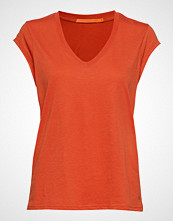 Coster Copenhagen Basic Tee W. V-Neck T-shirts & Tops Short-sleeved Oransje COSTER COPENHAGEN