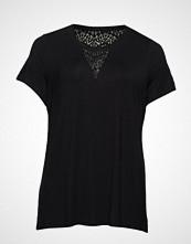 Zizzi Mhugo, S/S, T-Shirt T-shirts & Tops Short-sleeved Svart ZIZZI