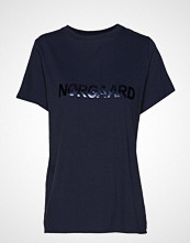 Mads Nørgaard Single Organic Trenda P C T-shirts & Tops Short-sleeved Blå MADS NØRGAARD