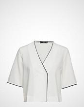 Mango Wrap V-Neckline Blouse Bluse Kortermet Hvit MANGO
