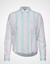 Tommy Jeans Tjw Boxy Multistripe Shirt Langermet Skjorte Gul TOMMY JEANS