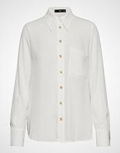 Mango Pocket Flowy Shirt Langermet Skjorte Hvit MANGO