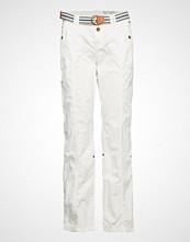 Edc by Esprit Pants Woven Bukser Med Rette Ben Hvit EDC BY ESPRIT
