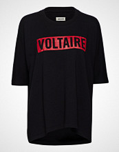 Zadig & Voltaire Portland Voltaire T-shirts & Tops Short-sleeved Svart ZADIG & VOLTAIRE