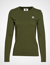 Wood Wood Moa Long Sleeve T-shirts & Tops Long-sleeved Grønn WOOD WOOD