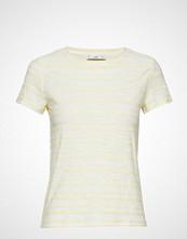 Mango Striped Cotton T-Shirt T-shirts & Tops Short-sleeved Gul MANGO