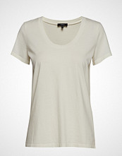 Theory Easy Scoop Tee.Relax T-shirts & Tops Short-sleeved Creme THEORY