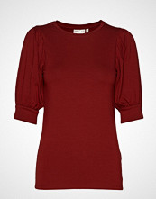 InWear Irinaiw Top T-shirts & Tops Short-sleeved Rød INWEAR