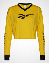 Reebok Classics Cl V P Cropped Longlseeve T-shirts & Tops Long-sleeved Gul REEBOK CLASSICS