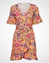 Odd Molly Flower Wrap Dress Kort Kjole Oransje ODD MOLLY