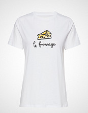 French Connection Le Fromage Sslv Tee T-shirts & Tops Short-sleeved Hvit FRENCH CONNECTION