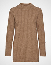 Cathrine Hammel Wool Chunky Rib Long Sweater Strikket Genser Brun CATHRINE HAMMEL