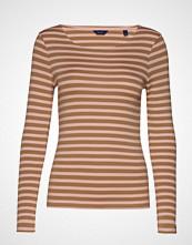 Gant 1x1 Rib Ls T-Shirt T-shirts & Tops Long-sleeved Brun GANT