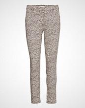 Mango Crop Slim-Fit Trousers Stramme Bukser Stoffbukser Multi/mønstret MANGO