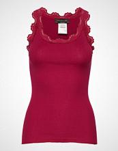 Rosemunde Silk Top Regular W/Vintage Lace T-shirts & Tops Sleeveless Rød ROSEMUNDE