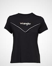 Wrangler 80´S Tee T-shirts & Tops Short-sleeved Svart WRANGLER