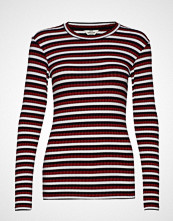 Mads Nørgaard 5x5 Happy Stripe Tuba S T-shirts & Tops Long-sleeved Rød MADS NØRGAARD