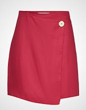 Mango Linen-Blend Wrap Skirt Kort Skjørt Rød MANGO