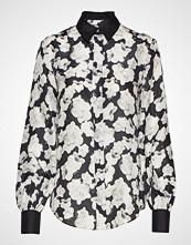 Karl Lagerfeld Orchid Print Silk Shirt Langermet Skjorte Svart KARL LAGERFELD