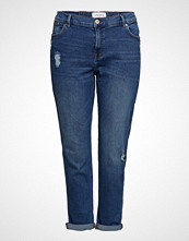 Violeta by Mango Girlfriend Claudia Jeans Skinny Jeans Blå VIOLETA BY MANGO