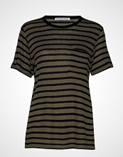 T by Alexander Wang New Striped Slub - Ss Top T-shirts & Tops Short-sleeved Multi/mønstret T BY ALEXANDER WANG