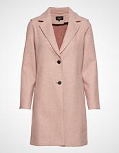 Only Onlcarrie Bonded Coat Cc Otw Ullfrakk Frakk Rosa ONLY