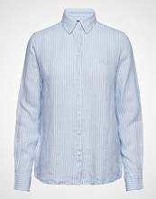 Gant The Linen Chambray Stripe Shirt Langermet Skjorte Blå GANT