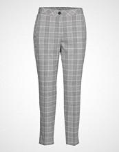 Gerry Weber Crop Leisure Trouser Bukser Med Rette Ben Grå GERRY WEBER