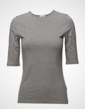 Filippa K Cotton Stretch Elbow Sleeve T-shirts & Tops Short-sleeved Grå FILIPPA K