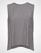 GAP Sleeveless Br Dipped Pocket Tee T-shirts & Tops Sleeveless Grå GAP