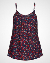 Moshi Moshi Mind Night Top Flower Bluse Ermeløs Blå MOSHI MOSHI MIND