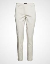 Fiveunits Kylie 531 Crop Split Bukser Med Rette Ben Creme FIVEUNITS