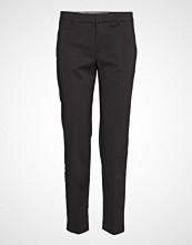 Mango Straight Cotton Trousers Bukser Med Rette Ben Svart MANGO