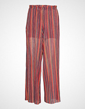Mango Striped Knit Trousers Vide Bukser Rød MANGO