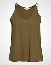 Rabens Saloner Twisted Jersey Tank T-shirts & Tops Sleeveless Grønn RABENS SAL R