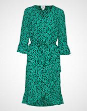 Saint Tropez U6006, Woven Dress Below Knee Knelang Kjole Grønn SAINT TROPEZ