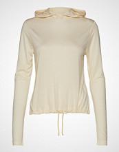 Casall Liquid Tencel Hood T-shirts & Tops Long-sleeved Creme CASALL