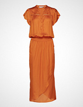 Coster Copenhagen Long Dress W. Smoke Knelang Kjole Oransje COSTER COPENHAGEN
