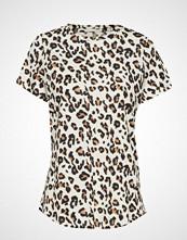 Banana Republic Ss Cotton Slub Leopard Tee T-shirts & Tops Short-sleeved Beige BANANA REPUBLIC