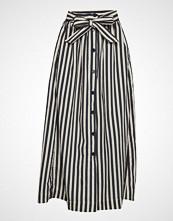 InWear Eliseiw Stripe Skirt Knelangt Skjørt Blå INWEAR