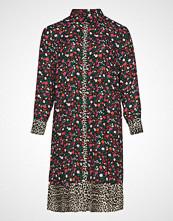 Zizzi Mfreja, L/S, Shirt Knelang Kjole Multi/mønstret ZIZZI