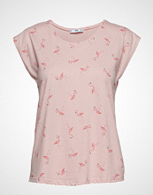 Mango Printed Cotton-Blend T-Shirt T-shirts & Tops Short-sleeved Rosa MANGO
