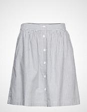 Calvin Klein Oxford Short Skirt Kort Skjørt Hvit CALVIN KLEIN JEANS