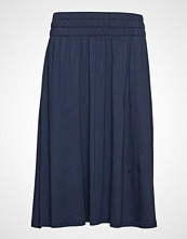 Lexington Clothing Jenni Jersey Skirt Knelangt Skjørt Blå LEXINGTON CLOTHING