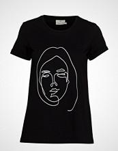 Kaffe Kafie T-Shirt T-shirts & Tops Short-sleeved Svart KAFFE