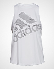 Adidas Performance Bos Logo Tank Bluse Ermeløs Hvit ADIDAS PERFORMANCE