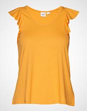 GAP Sl Rcrbk Fltr T-shirts & Tops Sleeveless Gul GAP